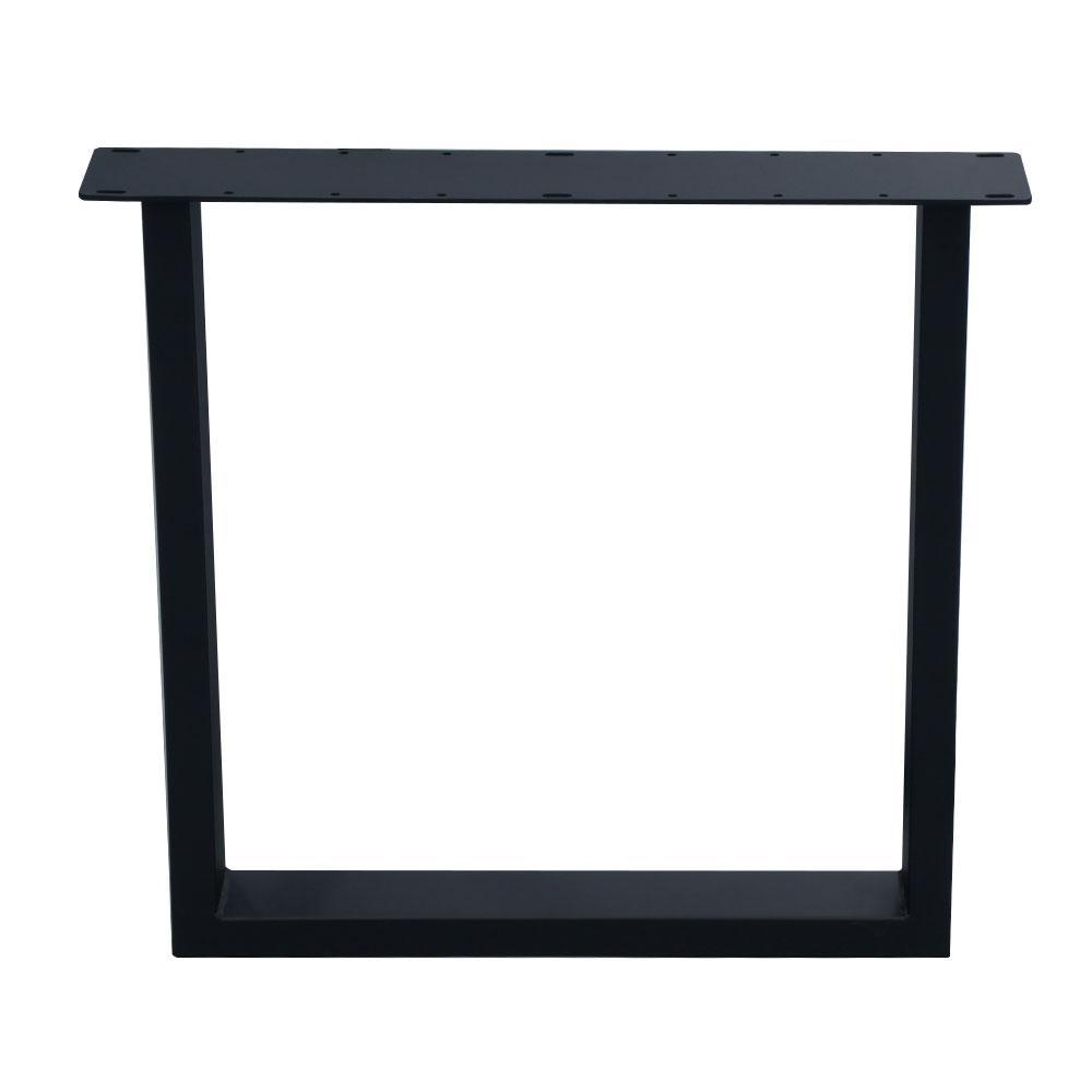 Tafelpoten Metaal Zwart.Zwarte U Tafelpoot 72 Cm